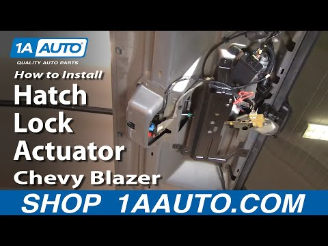 how to replace tailgate lock actuator 95 05 chevy blazer s10 youtube