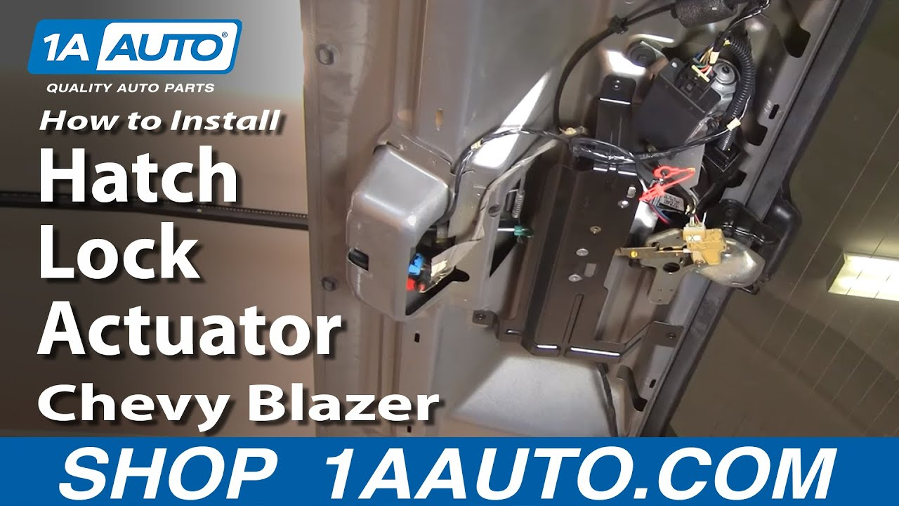 How To Replace Tailgate Lock Actuator 95 05 Chevy Blazer