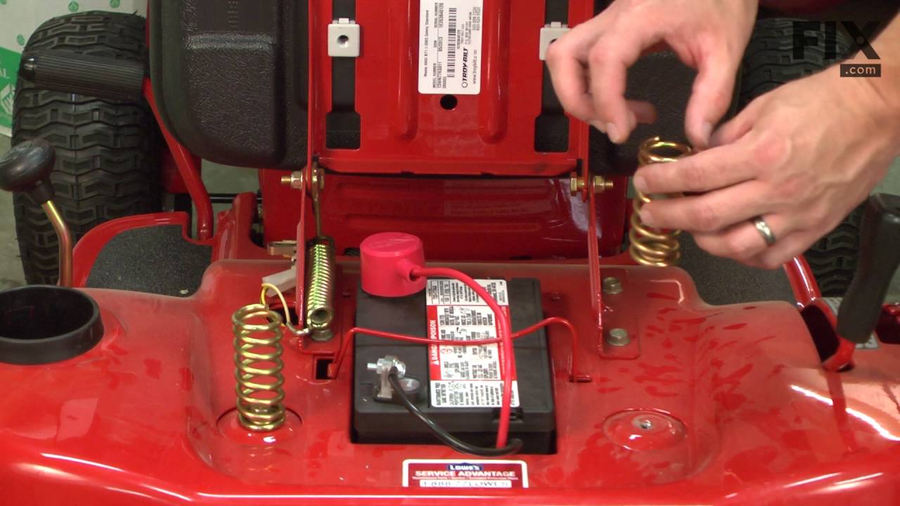 TroyBilt Lawn Tractor Repair – How to Replace the Seat Springs  YouTube