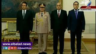 صدى البلد | لحظة اداء محمود توفيق وزير الداخلية اليمين الدستورية أمام السيسي