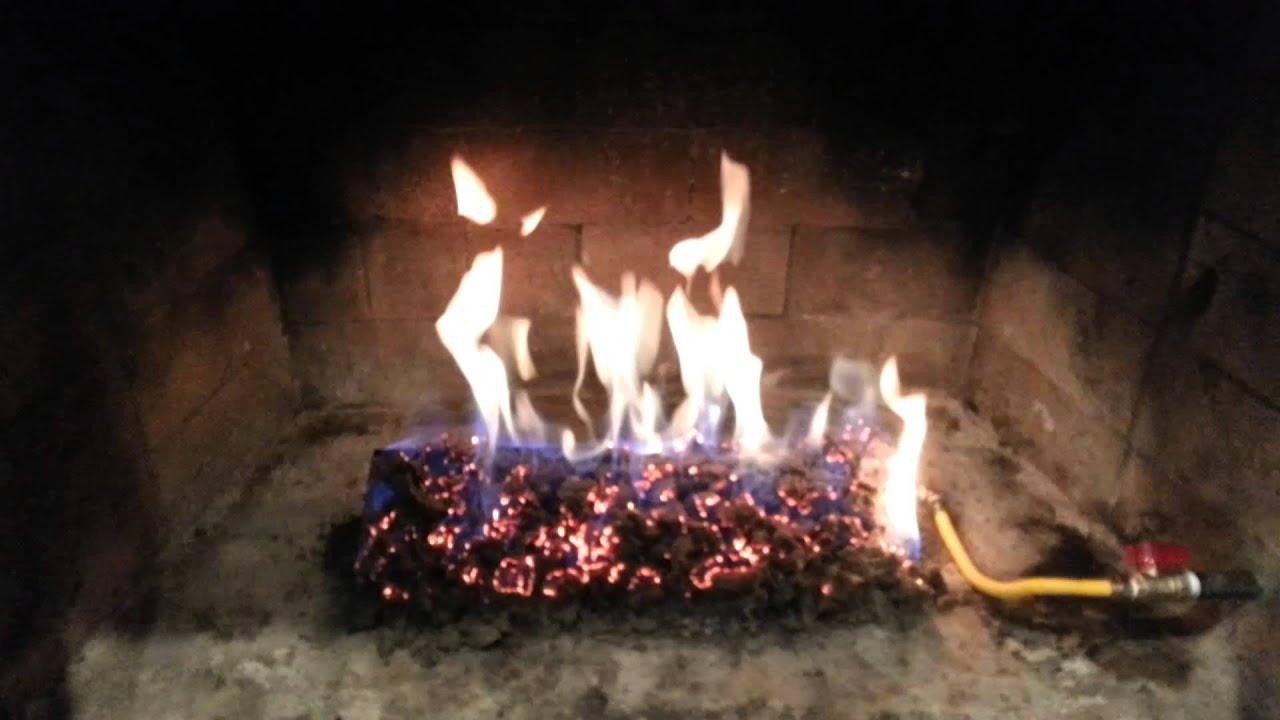 Gas log install - YouTube