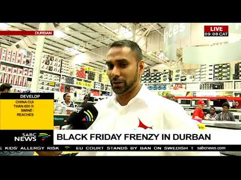 Black Friday frenzy in Durban