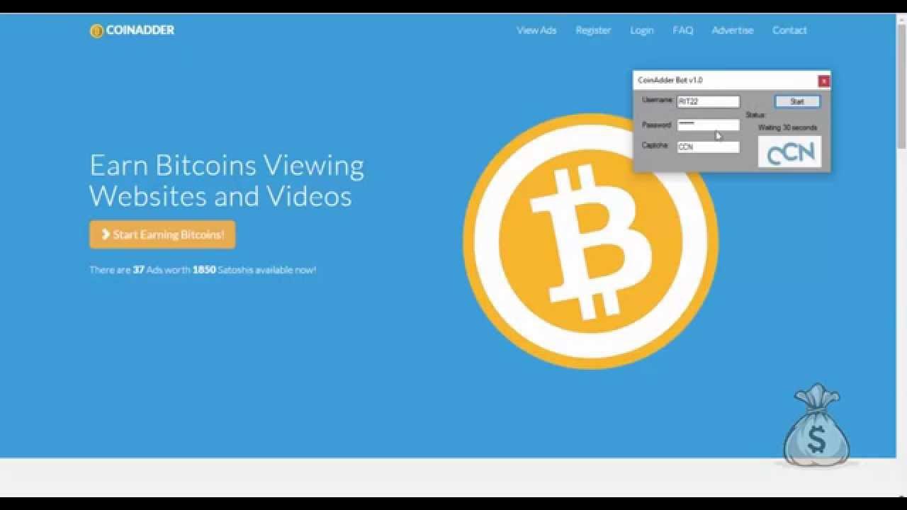 Программа для Автоматического Заработка Биткоинов |  Заработок BITCOIN на Серфинге Coinadder