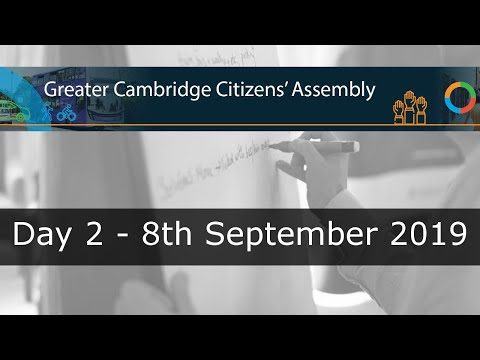 Greater Cambridge Citizens' Assembly Day 2- 8th September