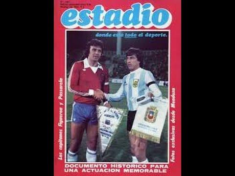 Argentina vs Chile Amistoso 1980