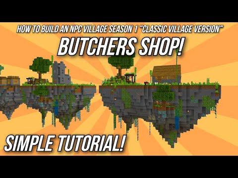 Minecraft Tutorial: How to build an NPC Village - Butcher's Shop! thumbnail