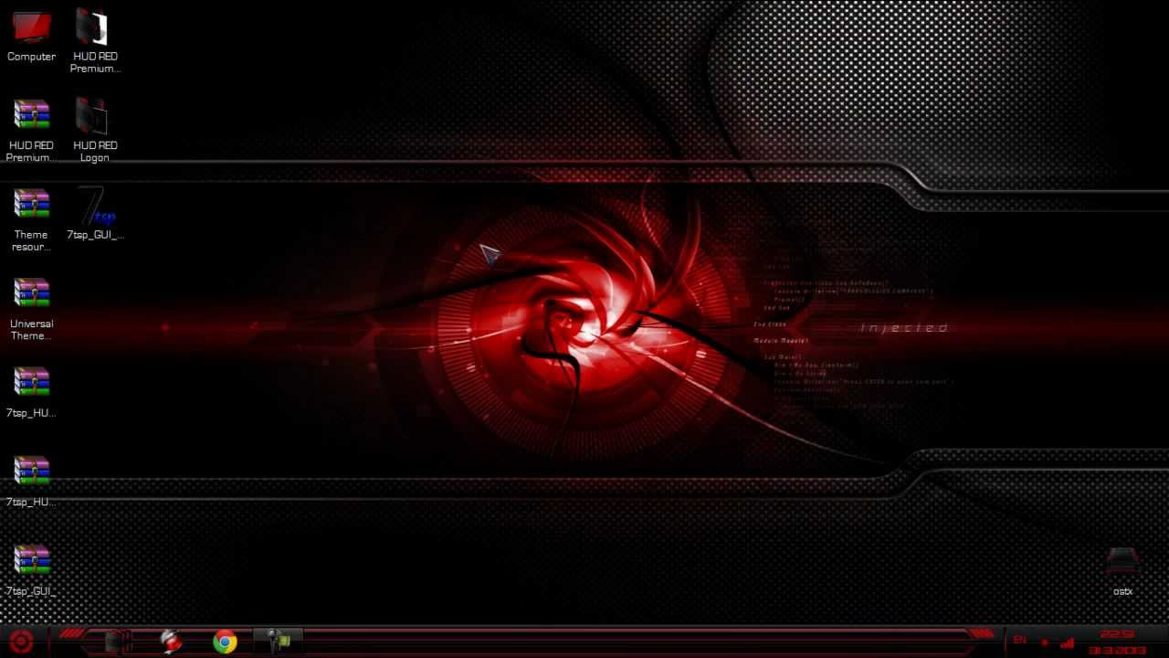Red And Black Windows 7 Themes FREE HUD RED Premium Windows 7