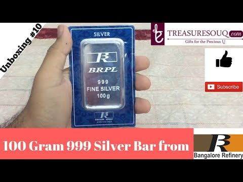 100 Gram Silver Bar Unboxing (India 2017)