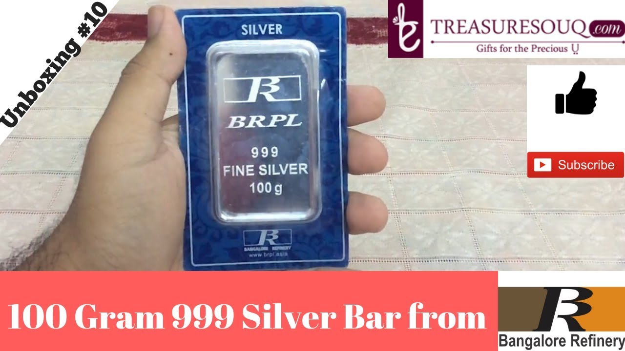 Bangalore Refinery 100 Gram Silver Bar Unboxing From Brpl