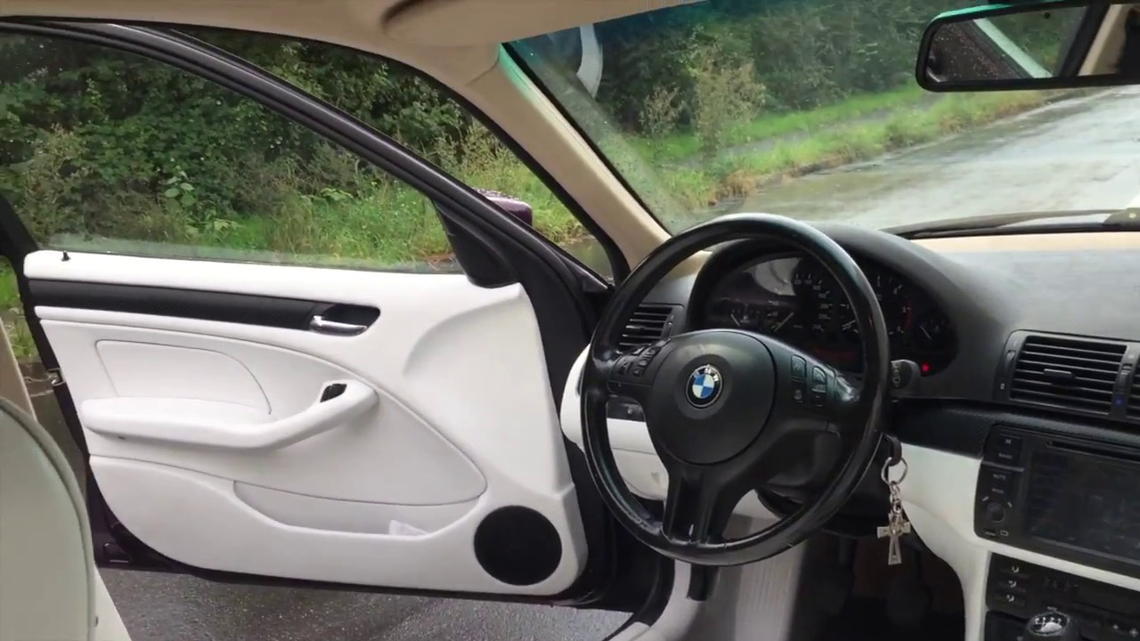Bmw E46 Leather Paint Interior In White Ledersitze Umf Rben In Weiss Youtube