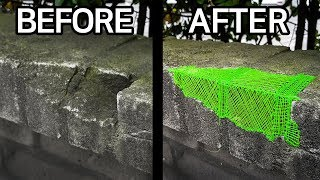Repairing walls with a 3D pen