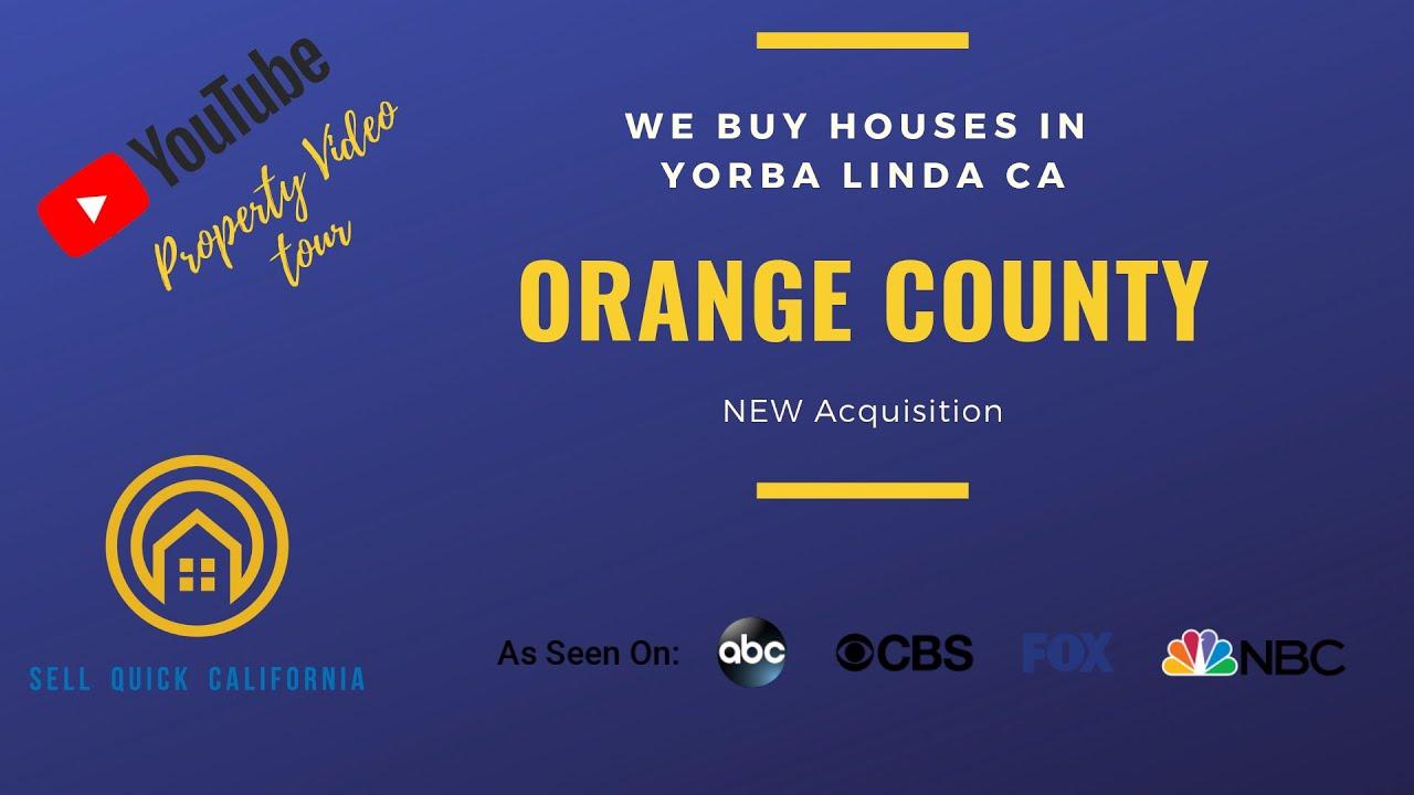 We Buy Houses In Orange County California [Real Estate Investor Property Walk Through]