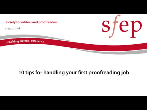 10 tips for handling your first proofreading job