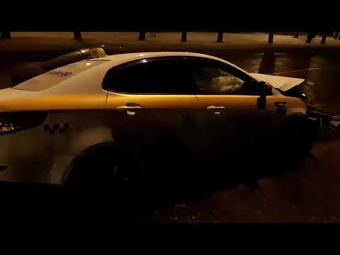 Яндекс такси в мясо, дтп на Дмитровском шоссе