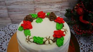 Апельсиновый торт Новогодний торт с ЛЕГКОЙ НОТКОЙ СВЕЖЕСТИ и НЕЖНОСТИ