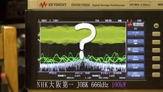 オシロスコープでラジオ電波と音声を観測してみた。 NHKラジオ深夜便エ...