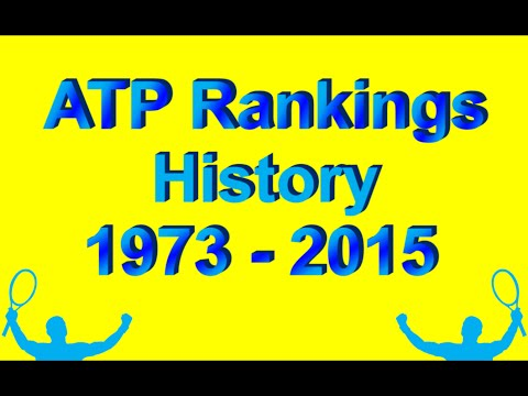 ❤ ATP Rankings History from 1973 to 2015