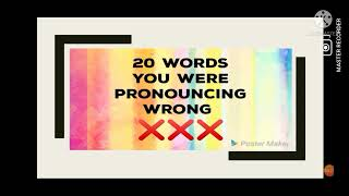 Some commonly mispronounced words | Words you were pronouncing wrong❌