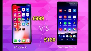 Speed test: Vernee Mix vs iPhone X | You