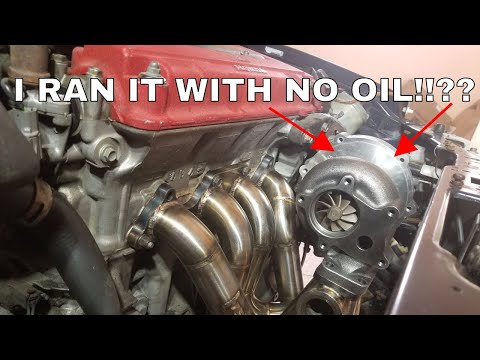 DC2 b18 TYPE R TURBO BUILD PT.1 (MOCKING TOP MOUNT TURBO MANIFOLD AND RUNNING TURBO OIL LINES).