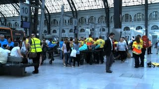Accident de train à Barcelone: 40 blessés dont un grave thumbnail