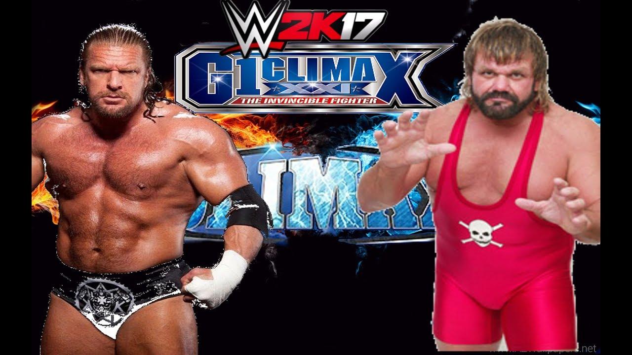 WWE2K17】 トリプルH VS スティ...