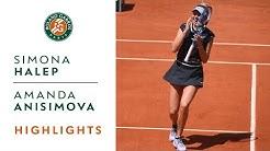 Simona Halep vs Amanda Anisimova - Quarterfinals Highlights | Roland-Garros 2019