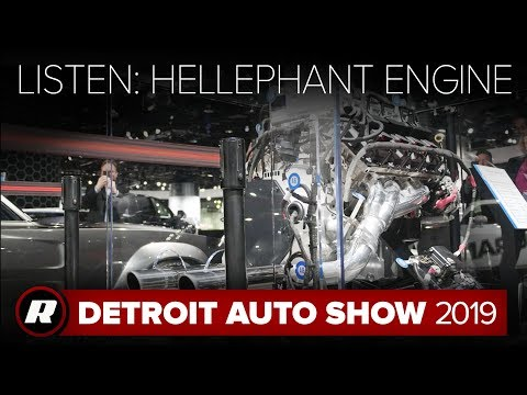 This is what the 1,000 HP Dodge Hellephant crate engine sounds like   Detroit 2019