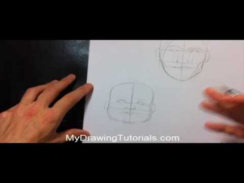 how-to-draw-facial-proportions---draw-male-&-female-faces---portrait-proportions