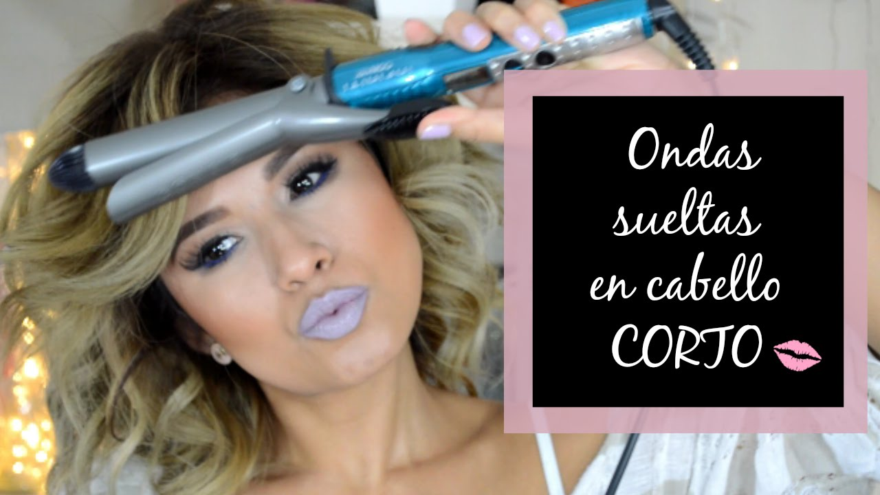 Ondas Sueltas En Cabello Corto Beach Waves Style Youtube