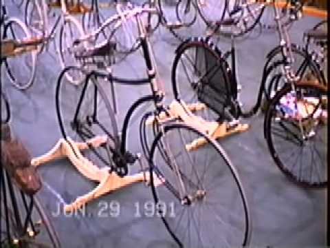 Antique bicycles and tricycles at the 1991 Wheelmen & IVCA Meet