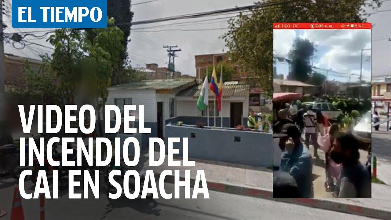 Revelan video del incendio del CAI en Soacha que causó nueve muertos -  YouTube