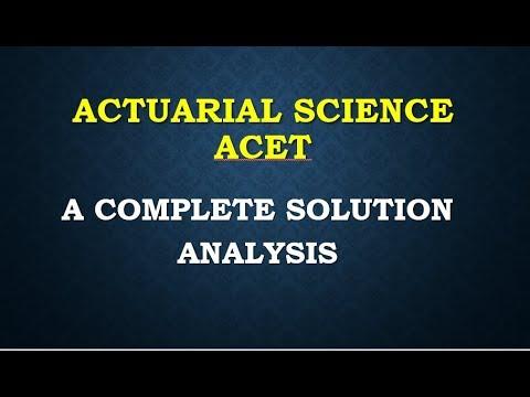 Actuarial Science Pdf S