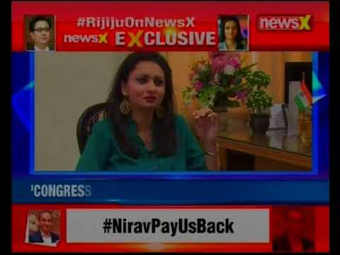 Union Minister Kiren Rijiju exclusive on NewsX, says Congress is making baseless charges