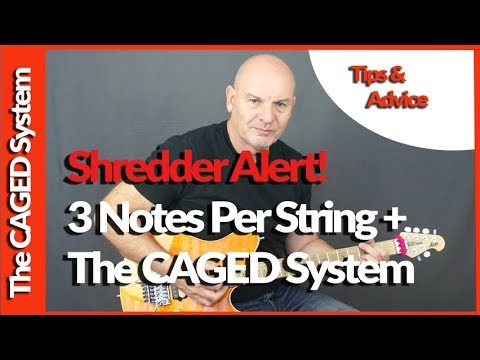 News Flash - Shredders Can Use 3 Notes Per String With The CAGED System