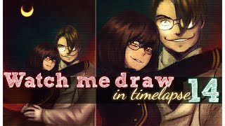 One Layer Colouring   Paint Tool SAI Timelapse   Hellsing Montana Max