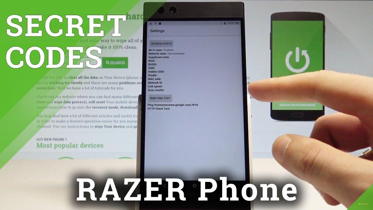 Secret Codes RAZER Phone - Tips & Tricks / Hidden Mode / Test Menu  |HardReset Info
