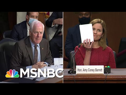 Republican Senator Asks Amy Coney Barrett To Show Her Blank Notepad At Confirmation Hearing | MSNBC