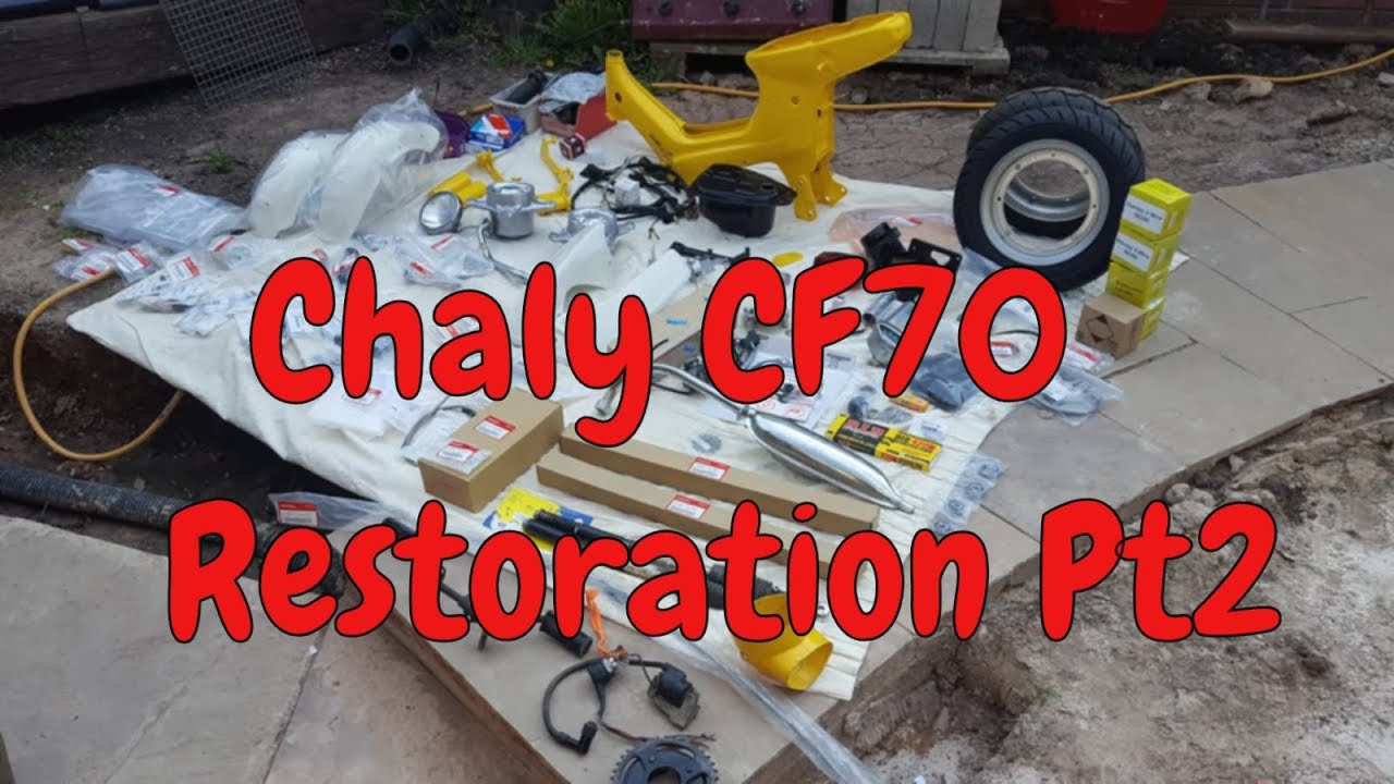 Honda Chaly CF70 1978 Restoration Pt2 (Lets Build A Chaly ...