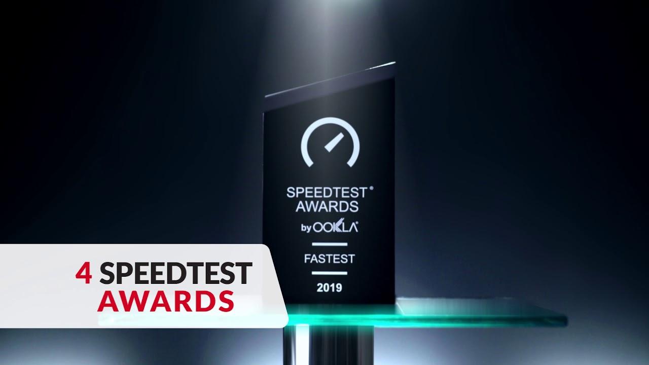 Pakistan's No. 1 Network with 4 Ookla Speedtest Awards!