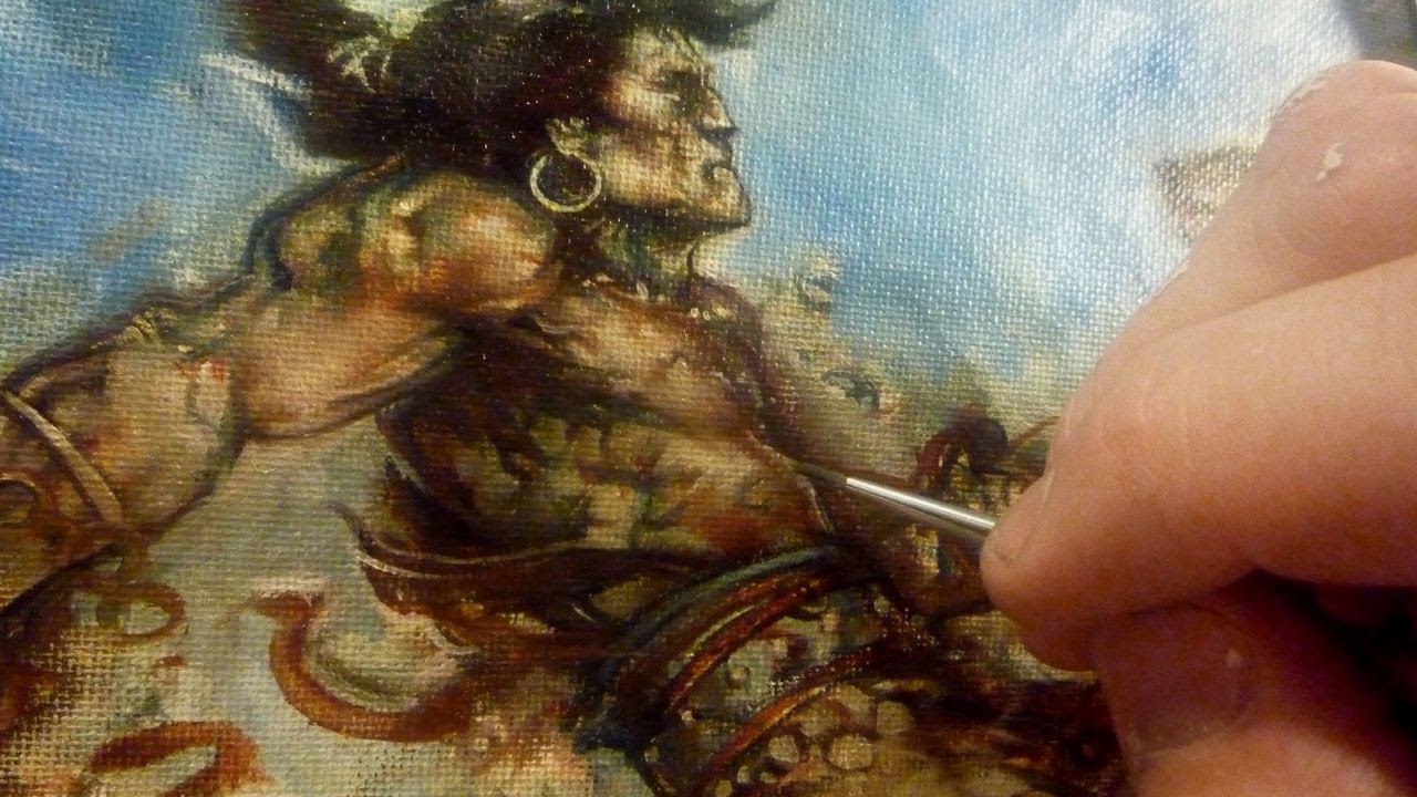Conan, Fantasy Oil Painting Technique - YouTube