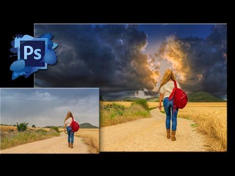 Как сделать небо в Фотошопе красивым