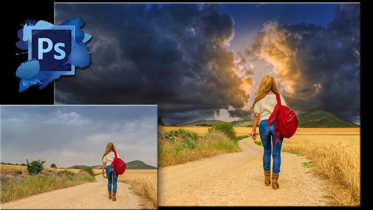 Как сделать небо красным в фотошопе