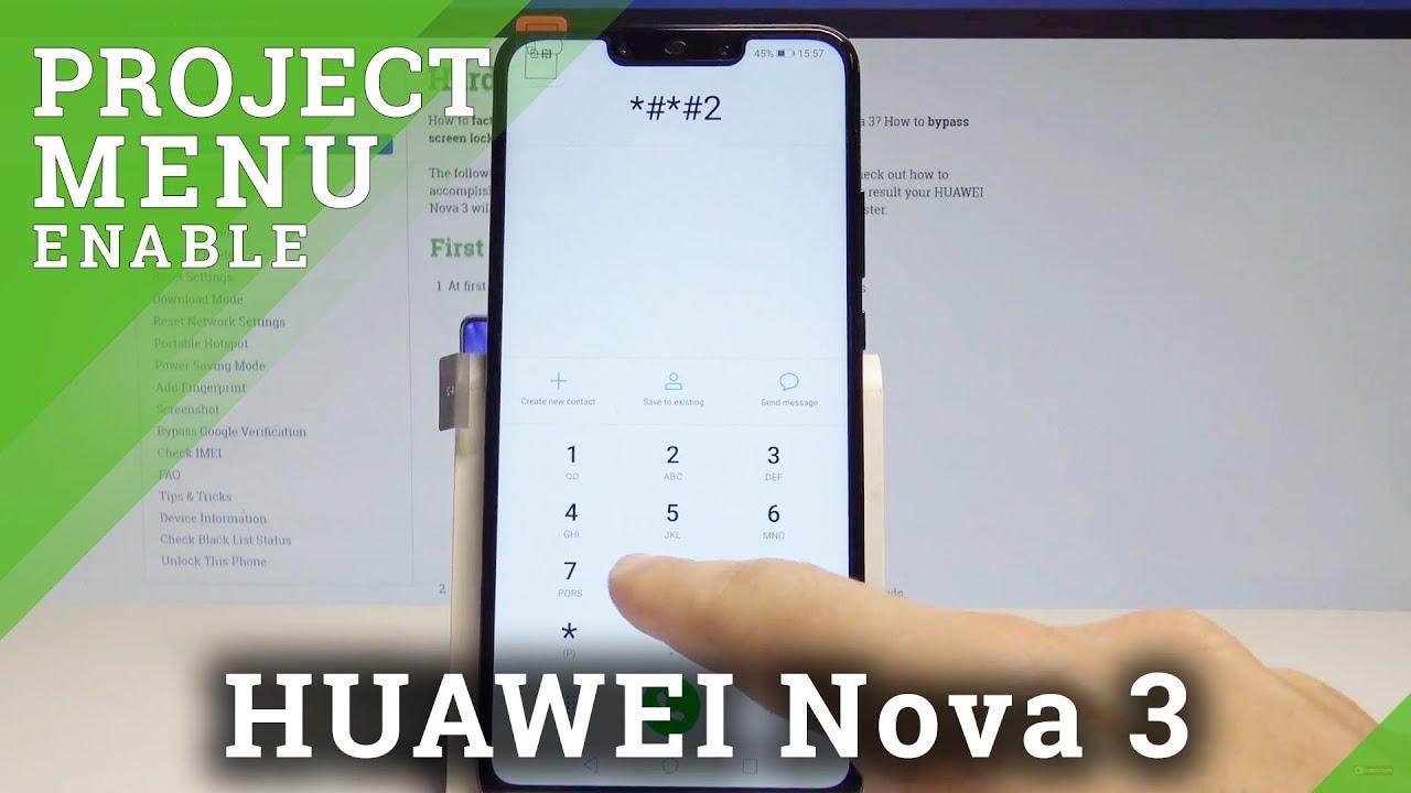 Codes HUAWEI Nova 3i - HardReset info