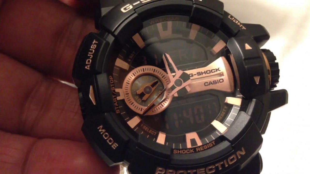 767b440ce0e Casio G-SHOCK GA-400GB-1A4JF Rose Gold Edition Unboxing - YouTube