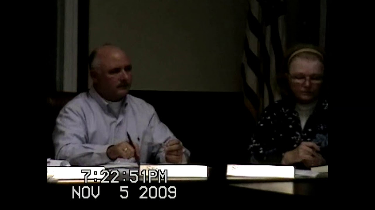 Chazy Town Board Meeting  11-5-09