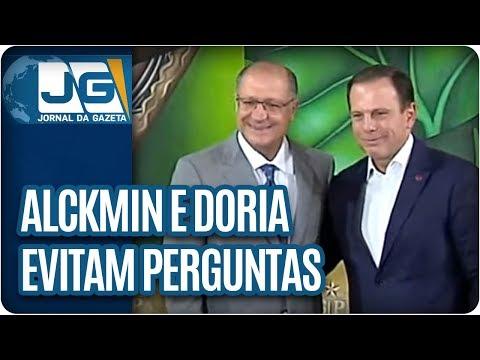 Alckmin e Doria evitam perguntas