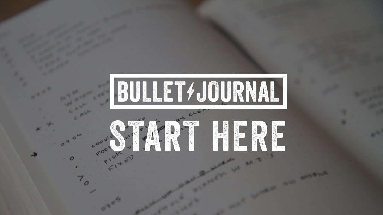 How To Bullet Journal Youtube
