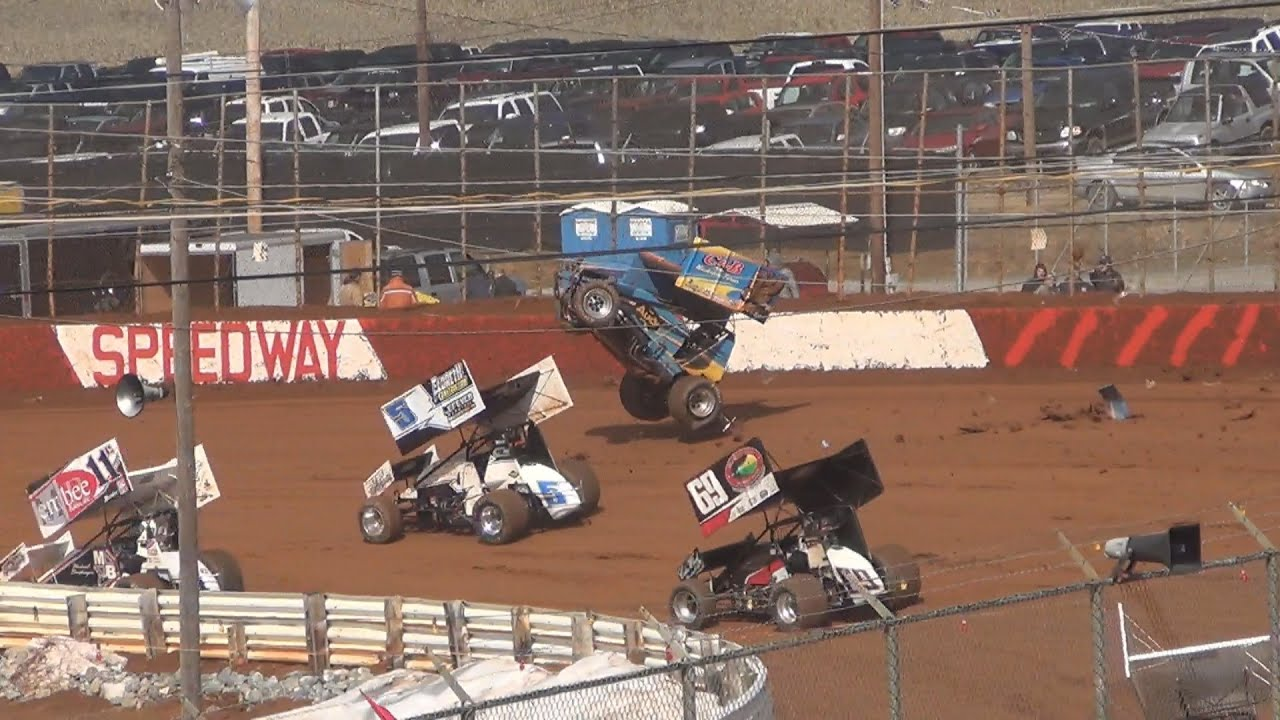 Lincoln Speedway PA Speedweek Sprint Car Highlights 6-29-13 - YouTube