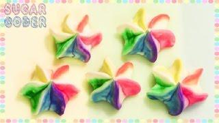 Rainbow Meringue Cookies, Rainbow Cookies - Sugarcoder